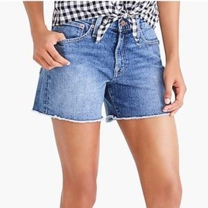 J crew mercantile denim cut off shorts